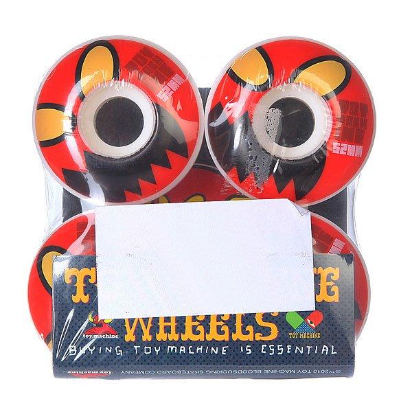 Колеса для скейтборда для скейтборда Toy Machine Monster Head Natural 101A 52 mmДиаметр: 52 mm    Жесткость: 101A    Цена указана за комплект из 4-х колес<br><br>Цвет: белый,красный<br>Тип: Колеса для скейтборда