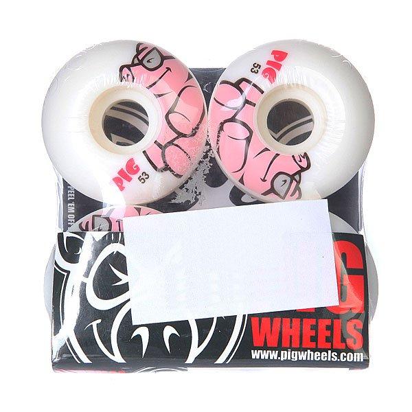 Колеса для скейтборда для скейтборда Pig Pig White/Pink 101A 53 mmДиаметр: 53 mm    Жесткость: 101A    Цена указана за комплект из 4-х колес<br><br>Цвет: белый,розовый<br>Тип: Колеса для скейтборда