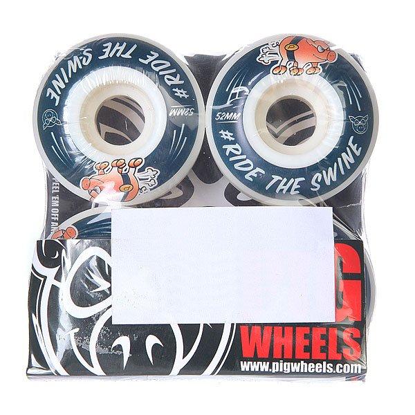 Колеса для скейтборда для скейтборда Pig #ride Blue 101A 52 mmДиаметр: 52 mm    Жесткость: 101A    Цена указана за комплект из 4-х колес<br><br>Цвет: белый,синий<br>Тип: Колеса для скейтборда
