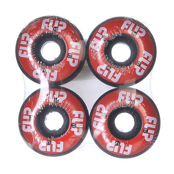 Колеса для скейтборда для скейтборда Flip Odyssey Logo Red 99A 52 mmДиаметр: 52 mm    Жесткость: 99A    Цена указана за комплект из 4-х колес<br><br>Цвет: черный,красный<br>Тип: Колеса для скейтборда