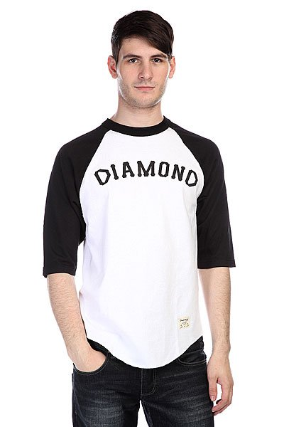 Лонгслив Diamond Dugout 98 Raglan White/Black