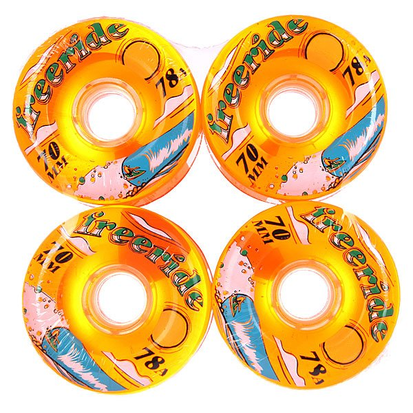Колеса для скейтборда для лонгборда Sector 9 Freeride 7 Wheels Sun Orange 78A 70 mmДиаметр: 70 mm    Жесткость: 78A    Цена указана за комплект из 4-х колес<br><br>Цвет: оранжевый<br>Тип: Колеса для лонгборда
