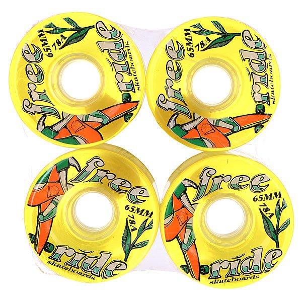 Колеса для скейтборда для лонгборда Sector 9 Freeride 6 Wheels Yellow/Green/Brown 78A 65 mmДиаметр: 65 mm    Жесткость: 78A    Цена указана за комплект из 4-х колес<br><br>Цвет: желтый<br>Тип: Колеса для лонгборда