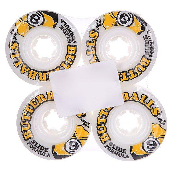 Купить Колеса   Колеса для скейтборда для лонгборда Sector 9 Butter Balls Slide Wheels White 80A 65 mm