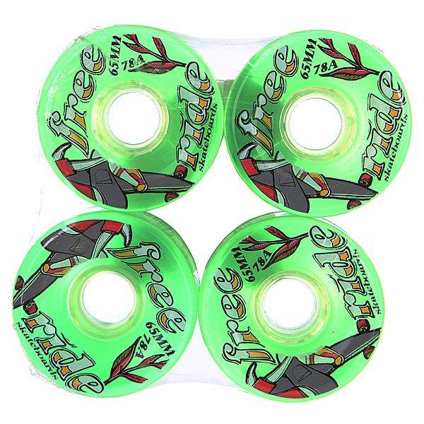 Колеса для скейтборда для лонгборда Sector 9 Freeride 6 Wheels Green/Multi 78A 65 mmДиаметр: 65 mm    Жесткость: 78A    Цена указана за комплект из 4-х колес<br><br>Цвет: зеленый<br>Тип: Колеса для лонгборда