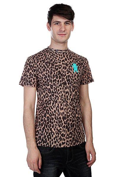 Футболка Grizzly Eli Reed Cheetah Griptape Tee Cheetah<br><br>Цвет: коричневый,черный<br>Тип: Футболка<br>Возраст: Взрослый<br>Пол: Мужской