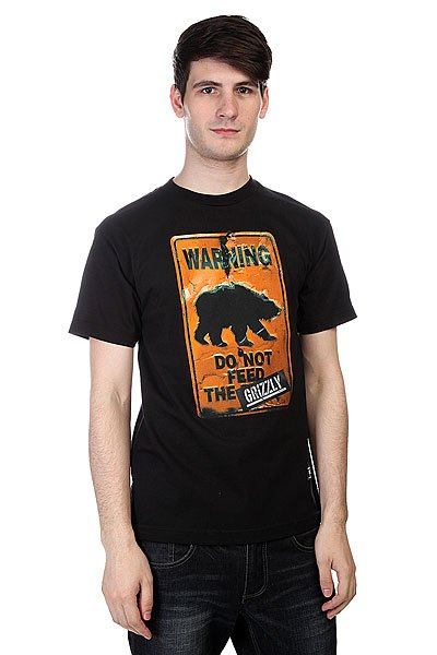 футболка-grizzly-do-not-feed-the-bears-tee-black