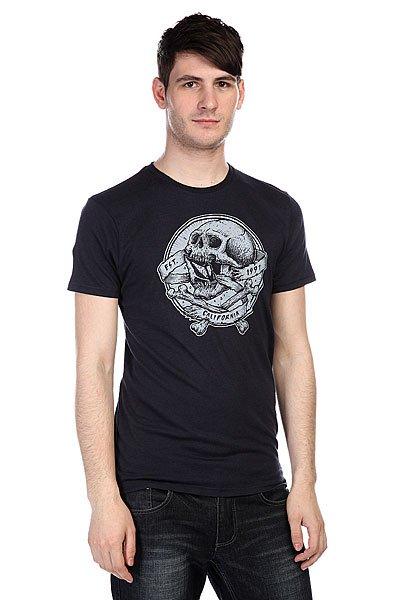Купить Футболки   Футболка Volcom Gnar Skull Lightweight Blue Black