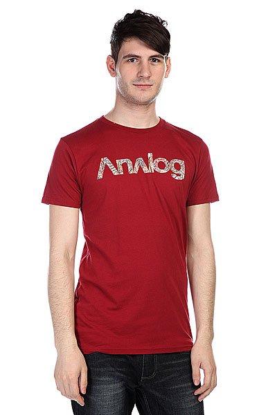 Футболка Analog Ag Anatolog Slim Blood<br><br>Цвет: бордовый<br>Тип: Футболка<br>Возраст: Взрослый<br>Пол: Мужской