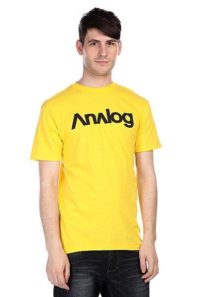 Футболка Analog Ag Analogo Bsc Yellow<br><br>Цвет: желтый<br>Тип: Футболка<br>Возраст: Взрослый<br>Пол: Мужской