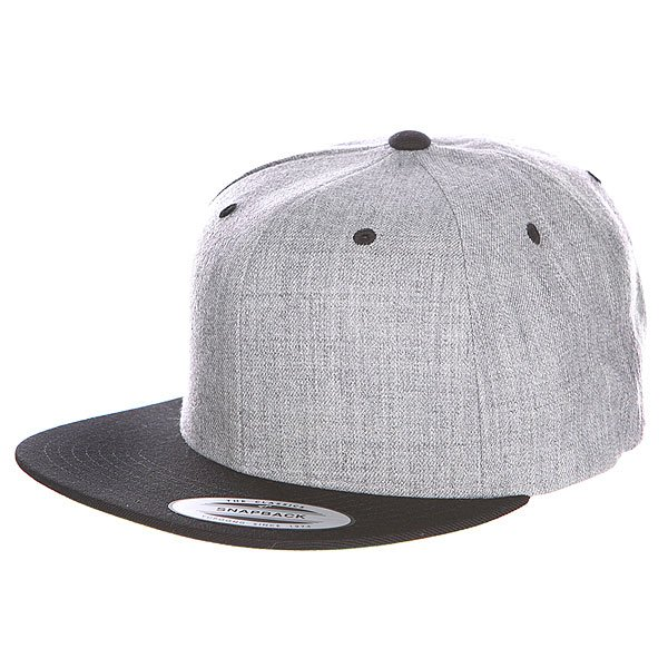 Бейсболка Flexfit Classic Snapback 2-Tone Heather Grey/Black