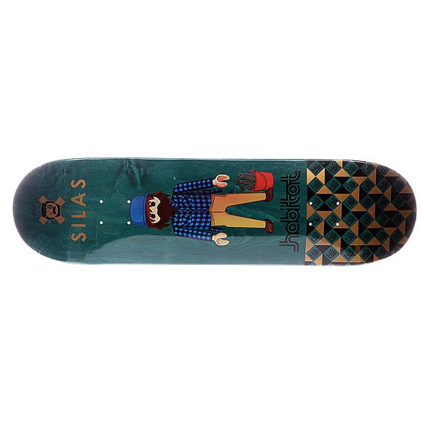 Дека для скейтборда для скейтборда Habitat S5 Silas Miniatures 32.38 x 8.25 (21 см)Ширина деки: 8.25 (21 см)    Длина деки: 32.38 (82.2 см)    Количество слоев: 7<br><br>Цвет: зеленый,мультиколор<br>Тип: Дека для скейтборда