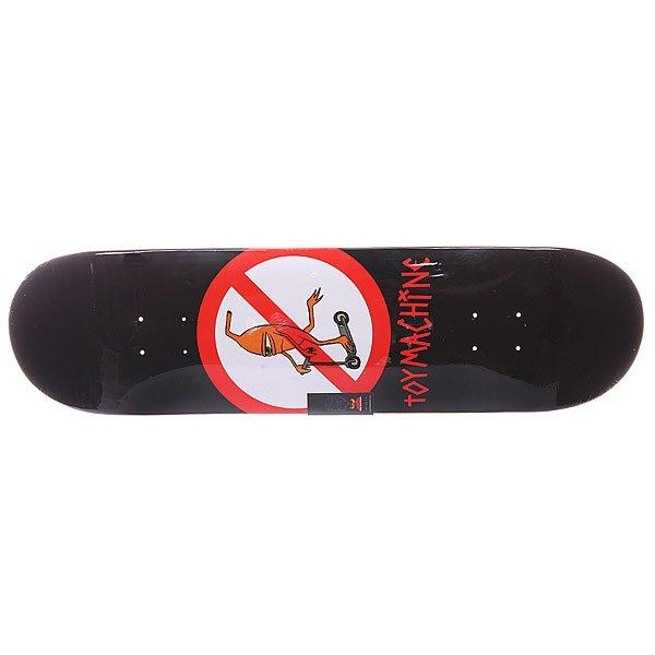 Дека для скейтборда для скейтборда Toy Machine S5 No Scooter 32.38 x 8.25 (21 см)Ширина деки: 8.25 (21 см)    Длина деки: 32.38 (82.2 см)    Количество слоев: 7<br><br>Цвет: черный,красный,белый<br>Тип: Дека для скейтборда