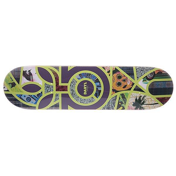 Дека для скейтборда для скейтборда Habitat S5 Angel Melange 32 x 8.125 (20.6 см)Ширина деки: 8.125 (20.6 см)    Длина деки: 32 (81.3 см)    Количество слоев: 7<br><br>Цвет: фиолетовый,желтый,мультиколор<br>Тип: Дека для скейтборда