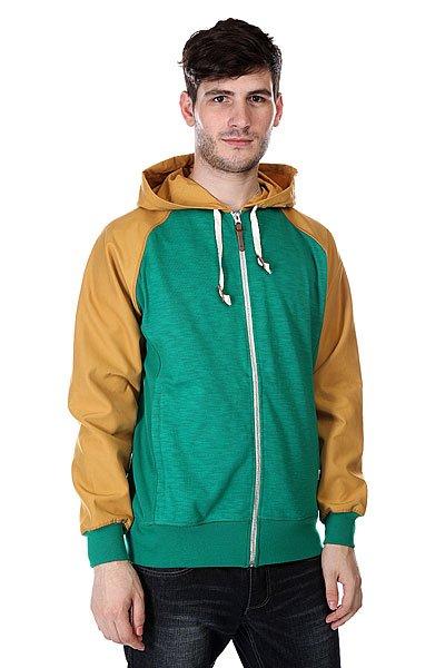 Куртка Burton Mb Ravine Hoodie UltramarineТехнические характеристики: Верх из комбинации хлопка и полиэстера. Внутренняя подкладка из хлопка. Застежка – молния.  Фиксированный капюшон с утяжкой.  Два боковых прорезных кармана для рук.  Эластичные манжеты на рукавах и подоле.Фасон: стандартный (regular fit).<br><br>Цвет: зеленый,коричневый<br>Тип: Куртка<br>Возраст: Взрослый<br>Пол: Мужской