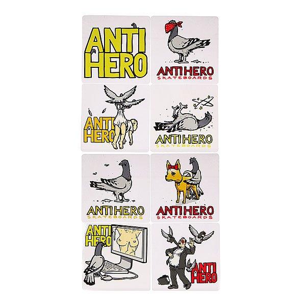 Наклейки Antihero Pigeons Revenge MulticolorЯркие наклейки на любой вкус.<br><br>Цвет: мультиколор<br>Тип: Наклейки