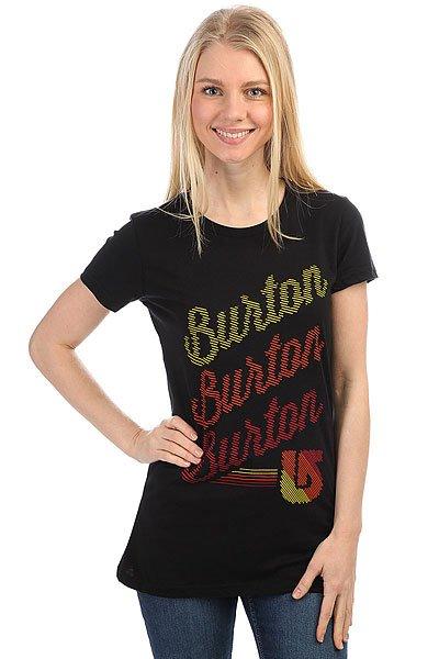 Футболка женская Burton Dashed Black<br><br>Цвет: черный<br>Тип: Футболка<br>Возраст: Взрослый<br>Пол: Женский