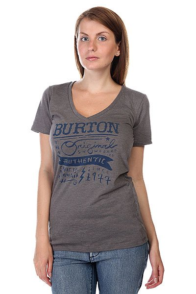 Футболка женская Burton Marion Rec V Heather Grey
