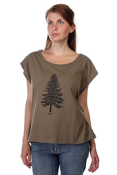 Топ женский Burton Wb Pine Tee Dusky Green<br><br>Цвет: зеленый<br>Тип: Топ<br>Возраст: Взрослый<br>Пол: Женский