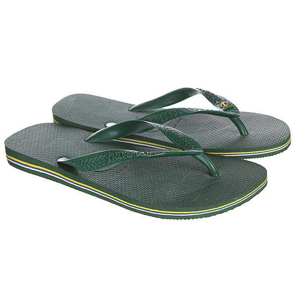 Вьетнамки Havaianas STen Brasil Green<br><br>Цвет: зеленый,желтый<br>Тип: Вьетнамки<br>Возраст: Взрослый<br>Пол: Мужской