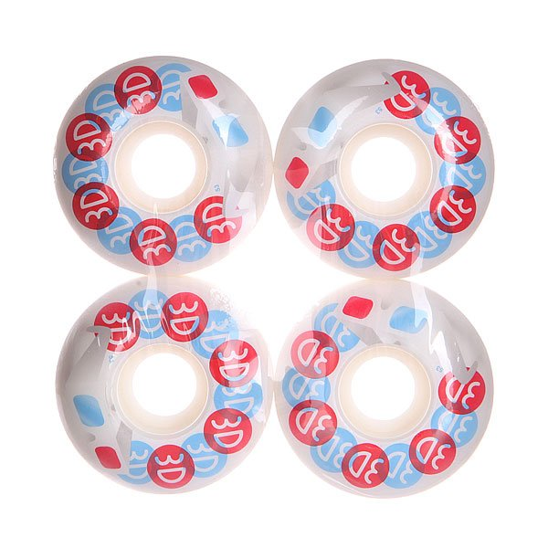 Колеса для скейтборда для скейтборда 3D Glasses Blue/Red/White 101A 53 mmДиаметр: 53 mm    Жесткость: 101A    Цена указана за комплект из 4-х колес<br><br>Цвет: белый,голубой,красный<br>Тип: Колеса для скейтборда