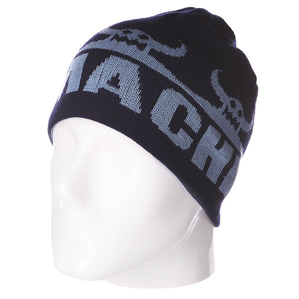 Шапка двусторонняя Toy Machine Cinco Monster Rev. Beanie Navy/Blue футболка toy machine jump ramp navy