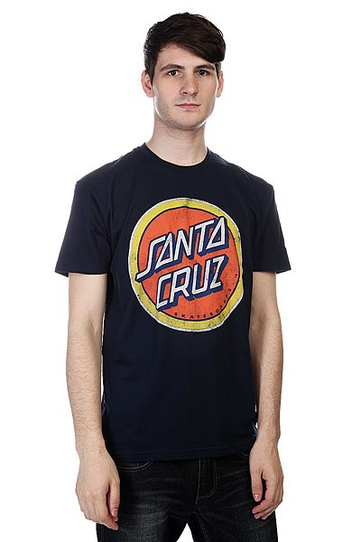 Футболка Santa Cruz Retro Dot Midnight Navy<br><br>Цвет: синий<br>Тип: Футболка<br>Возраст: Взрослый<br>Пол: Мужской