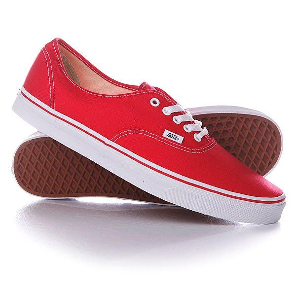 Кеды кроссовки низкие Vans Authentic An Red vans кеды vans authentic pro 50th 66 duke red white 10 5