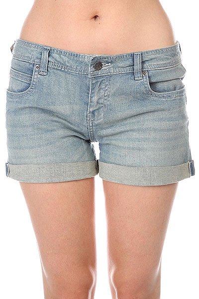 Шорты джинсовые женские Element Minnow 945 Haggard Wash<br><br>Цвет: синий<br>Тип: Шорты джинсовые<br>Возраст: Взрослый<br>Пол: Женский
