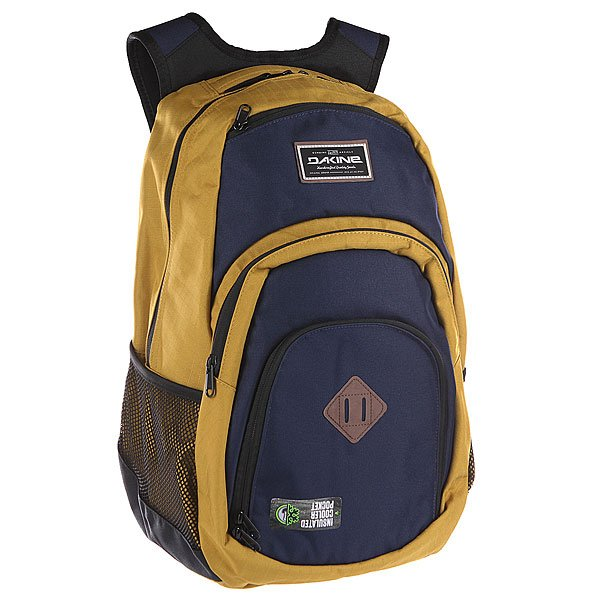 Рюкзак туристический Dakine Campus  DarwinОбновленный Campus от Dakine является максимально всесторонним рюкзаком со специальным карманом для 15 ноутбука и отличными носибельными качествами. Он гений организации и предоставляет достаточное пространство для ваших книг, файлов и документов. Таким образом, он обязателен для повседневного использования в городе, школе или университете. Характеристики:  Стеганый чехол на флисовой подкладке, подходит для большинства ноутбуков с диагональю экрана 15.Герметичный термо-карман. Задняя стенка и наплечные ремни из дышащего материала DriMesh®.Карман –органайзер.  Стеганое дно. Эргономичные смягченные плечевые лямки.<br><br>Цвет: желтый,синий<br>Тип: Рюкзак туристический<br>Возраст: Взрослый<br>Пол: Мужской