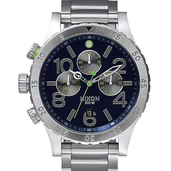 Часы Nixon Chrono Midnight Blue/Volt Green