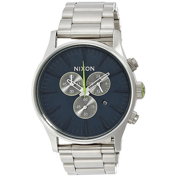 Часы Nixon Sentry Chrono Midnight Blue/Volt Green кварцевые часы nixon sentry chrono black multi