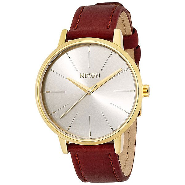Часы женские Nixon Kensington Leather Gold/Saddle часы женские nixon kensington all white gold o s