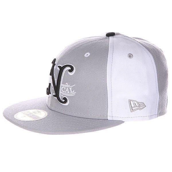 Бейсболка New Era Nor Cal Louisville 59 Fifty Grey/White<br><br>Цвет: серый,белый<br>Тип: Бейсболка с прямым козырьком<br>Возраст: Взрослый