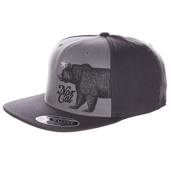 Бейсболка Flexfit Nor Cal Fort Ord Adjustable  Grey/Washed Black бейсболка flexfit independent stock o g b c  flexfit black