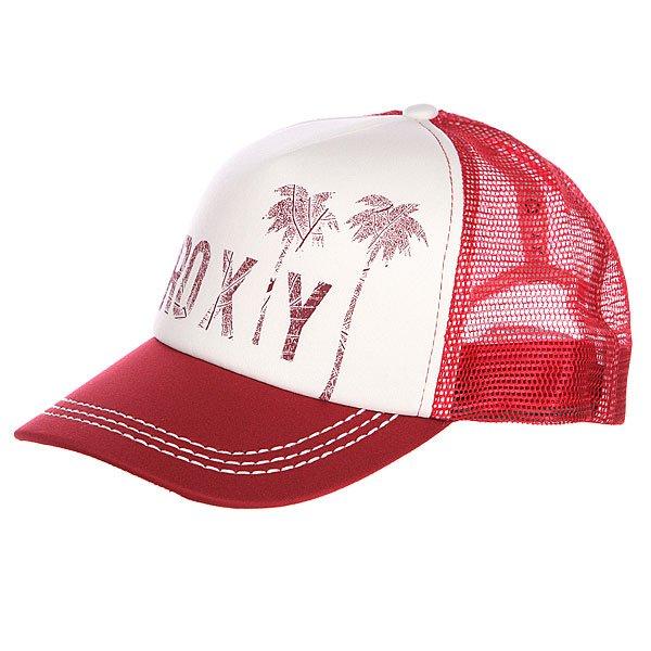бе-йсболка-же-нская-roxy-truckin-hats-deep-red