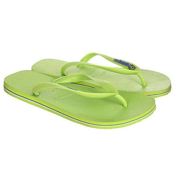 Вьетнамки Havaianas Eles Brasil Logo Green<br><br>Цвет: зеленый<br>Тип: Вьетнамки<br>Возраст: Взрослый<br>Пол: Мужской