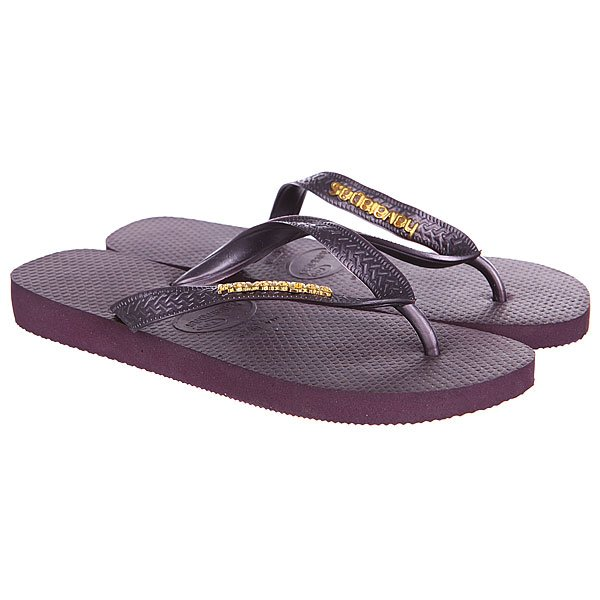 Вьетнамки Havaianas Eles Top Logo Metallic Light Golden Purple