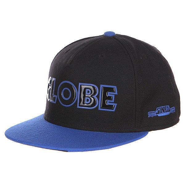 Бейсболка Globe Sinclair Flat Brim Black<br><br>Цвет: черный,синий<br>Тип: Бейсболка с прямым козырьком<br>Возраст: Взрослый