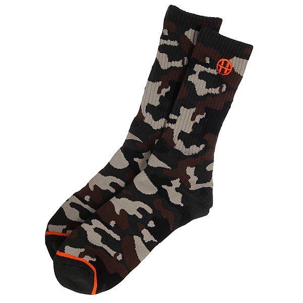 Носки высокие Huf Camo Crew Sock Woodland<br><br>Цвет: черный,коричневый,зеленый<br>Тип: Носки средние<br>Возраст: Взрослый<br>Пол: Мужской