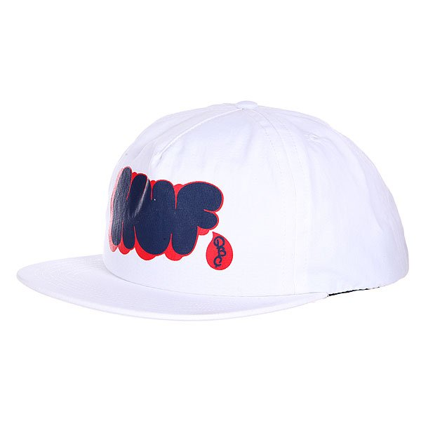 Бейсболка Huf Bubbles Snapback White бейсболка huf dbc king snapback black