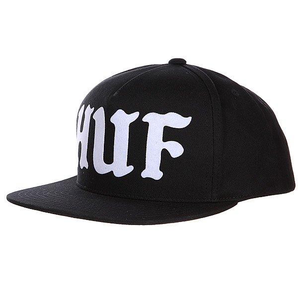 Бейсболка Huf Uprock Snapback Black<br><br>Цвет: черный<br>Тип: Бейсболка с прямым козырьком<br>Возраст: Взрослый