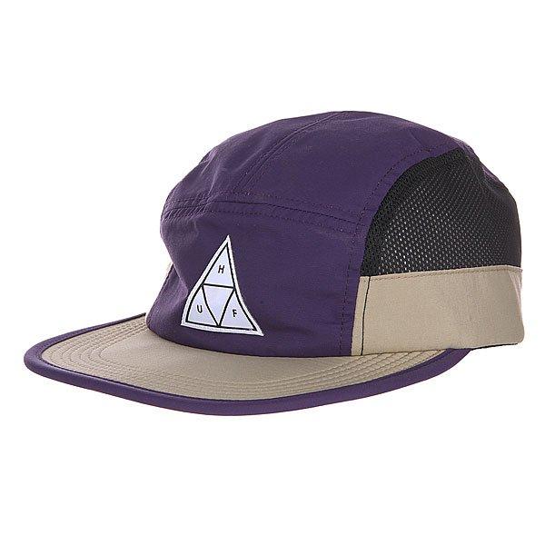 Бейсболка Huf Side Mesh Scout Volley Purple<br><br>Цвет: фиолетовый,бежевый<br>Тип: Бейсболка пятипанелька<br>Возраст: Взрослый<br>Пол: Мужской