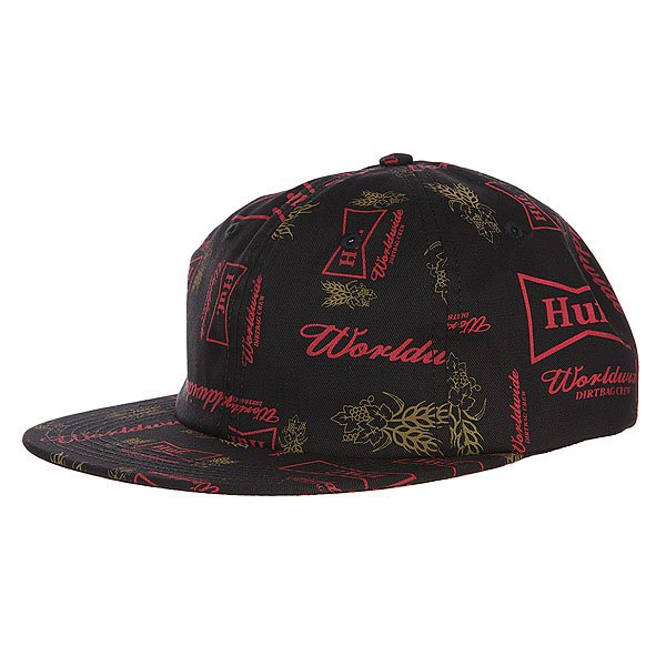 Бейсболка Huf Drink Up 6 Panel Black майка huf surfs up tank black