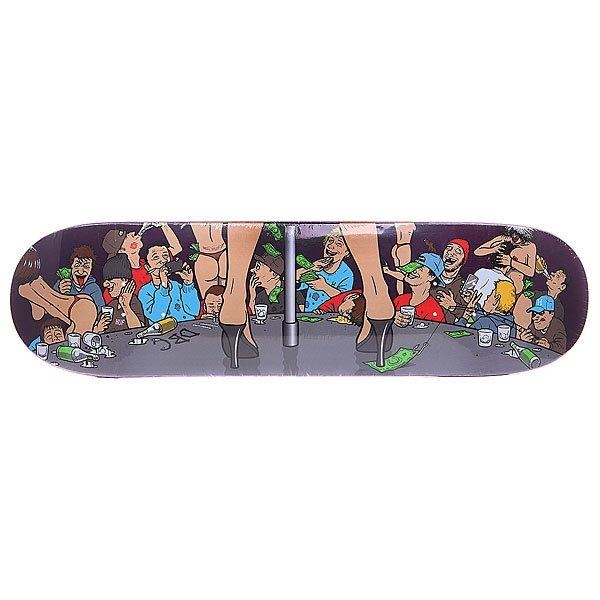 Дека для скейтборда для скейтборда Huf Todd Francis Board Purple 32 x 8.5 (21.6 см)Ширина деки: 8.5 (21.6 см)    Длина деки: 32 (81.3 см)    Количество слоев: 7<br><br>Цвет: мультиколор<br>Тип: Дека для скейтборда