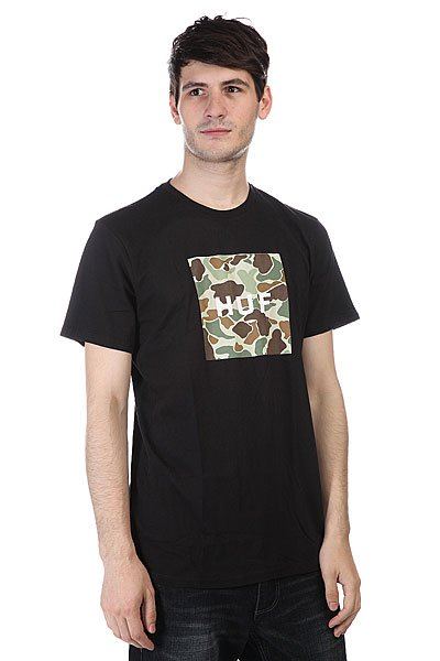 Футболка Huf Duck Camo Box Logo Tee Black