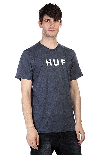 Футболка Huf Original Logo Tee Navy Heather майка huf 12 galaxies tank navy heather