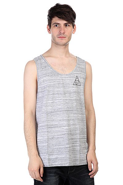 Майка Huf Streaky Wash Tank White майка huf 12 galaxies tank burgandy heather