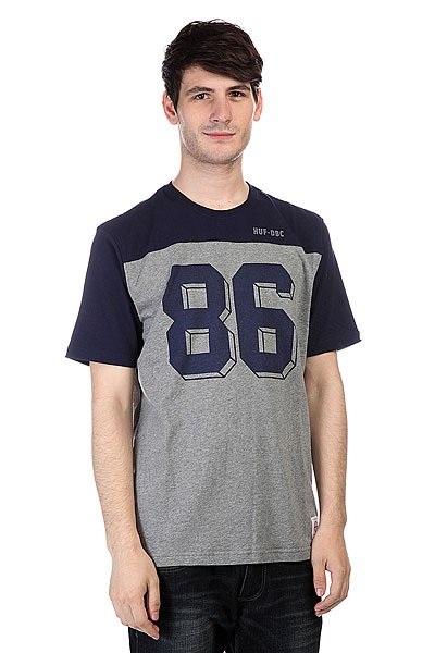 Футболка Huf Franco S/S Football Jersey Navy<br><br>Цвет: синий,серый<br>Тип: Футболка<br>Возраст: Взрослый<br>Пол: Мужской