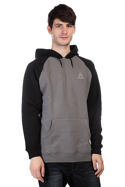 ������� Huf Triple Triangle Raglan Pullover Hoodie Black/Charcoal